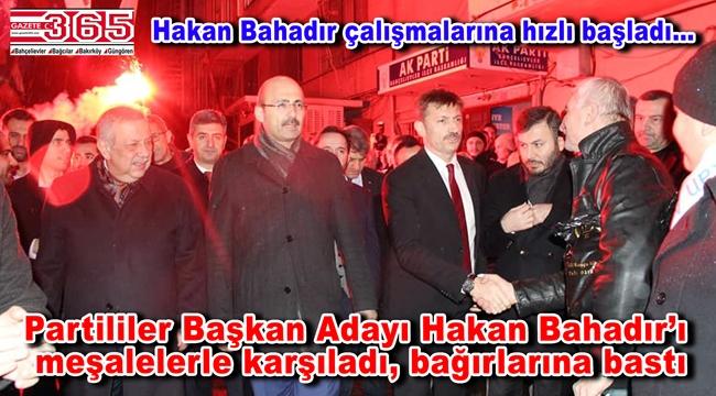 AK Parti Bahçelievler Belediye Başkan Adayı Hakan Bahadır coşkuyla karşılandı