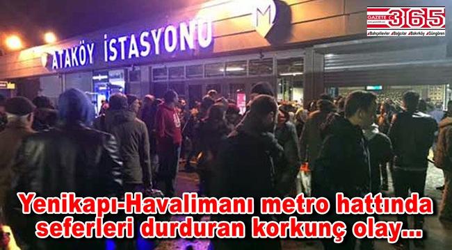 Ataköy-Bahçelievler Metro istasyonları arasında intihar olayı yaşandı