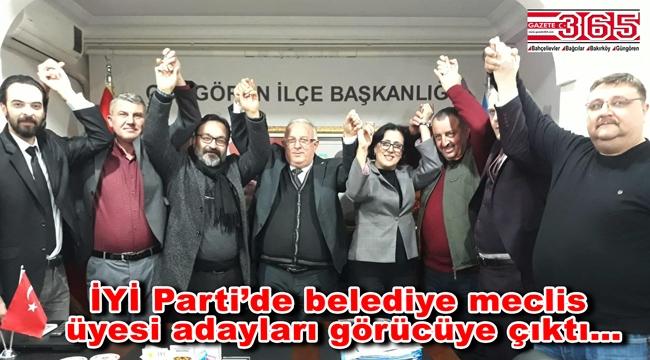 İYİ Parti Güngören'de belediye meclis üyesi adayları tanıtıldı