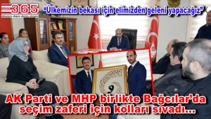 AK Parti Bağcılar Teşkilatı MHP'yi ziyaret etti