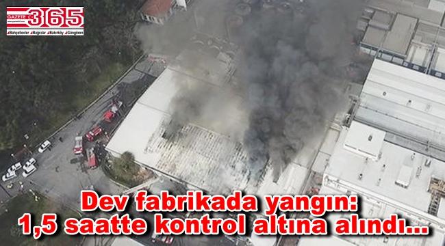 Bahçelievler'deki bira fabrikasında yangın çıktı