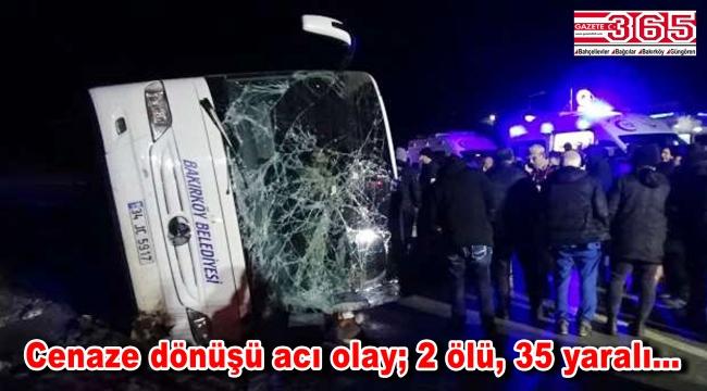 Bakırköy'den Ordu'ya giden otobüs, dönüş yolunda kaza yaptı