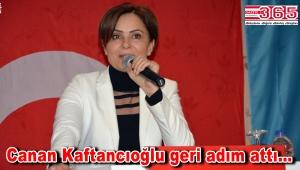 CHP İstanbul İl Başkanı Canan Kaftancıoğlu istifasını geri çekti