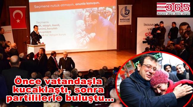 CHP'nin İstanbul Adayı Ekrem İmamoğlu Bağcılar'a geldi