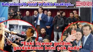 CHP'nin İstanbul Adayı Ekrem İmamoğlu Bahçelievler'de halkla buluştu