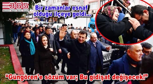 CHP'nin İstanbul Adayı Ekrem İmamoğlu Güngören'de halkla buluştu