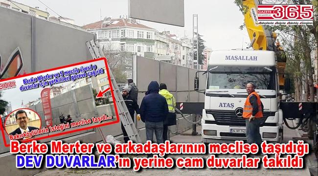 Marmaray Sirkeci-Halkalı tren hattının Bakırköy'deki duvarları kaldırıldı