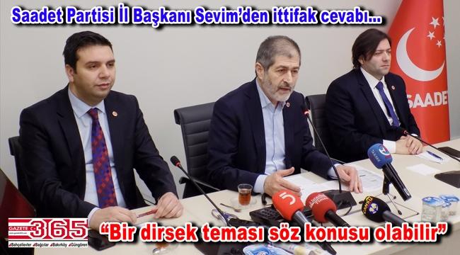 Saadet Partisi İl Başkanı Abdullah Sevim yerel medya ile buluştu
