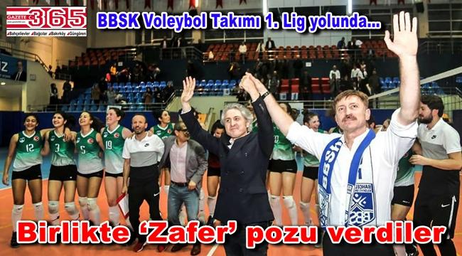 UPS'i 3-1 yenen BBSK Bayan Voleybol Takımı 1. Lig'e yaklaştı