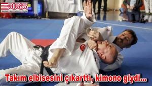 AK Parti'nin Adayı Hakan Bahadır bu kez judo için sahaya çıktı