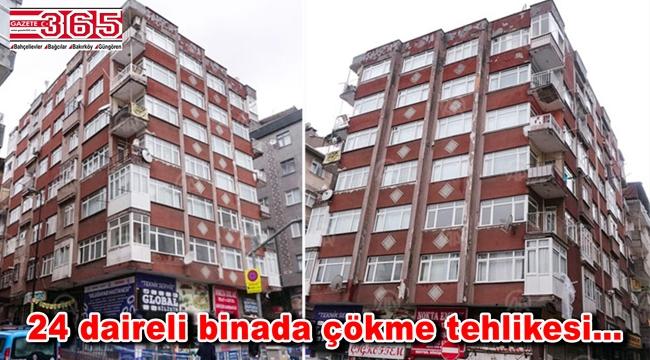 Bahçelievler'de 9 katlı bir bina boşaltıldı!