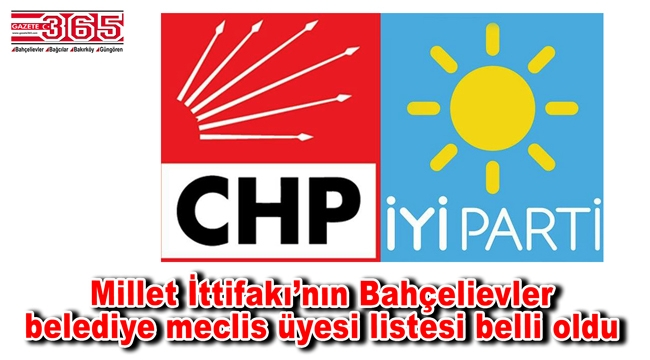 İşte CHP Bahçelievler Belediye Meclis Üyesi Adayı Listesi…