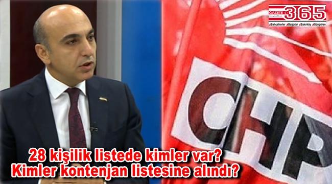 İşte CHP Bakırköy Belediye Meclis Üyesi Adayı Listesi…