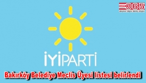 İşte İYİ Parti Bakırköy Belediye Meclis Üyesi Adayı Listesi…