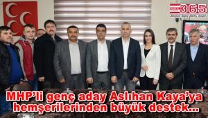 MHP'den meclis üyeliğine aday olan Aslıhan Kaya'ya büyük destek dikkat çekti
