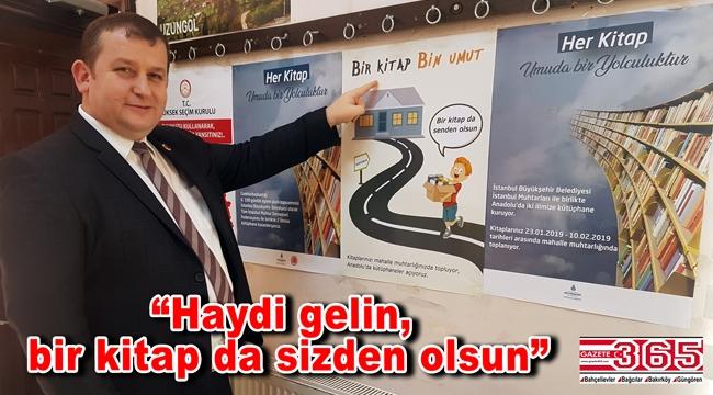 Selami Aykut, 'Bir Kitap Bin Umut' kampanyası için çağrı yaptı