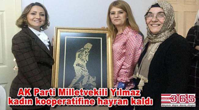 AK Parti Milletvekili Yılmaz'dan Bahçelievler Kadın Kooperatifi'ne ziyaret…
