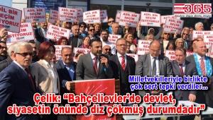CHP'liler; 'Bahçelievler'de adil bir seçim istiyoruz' diye haykırdılar