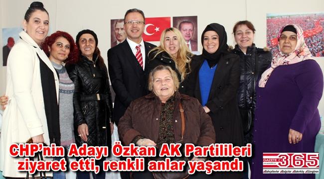 CHP'nin Bahçelievler Adayı Özkan'dan AK Parti'nin seçim bürosuna ziyaret…