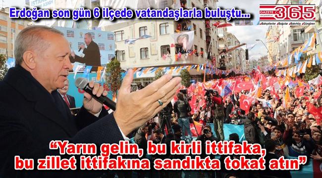 Cumhurbaşkanı Erdoğan Güngören, Bahçelievler ve Bağcılar'da miting yaptı