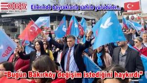 DSP Adayı Ali Fatinoğlu Bakırköylülerle yürüyüşe geçti