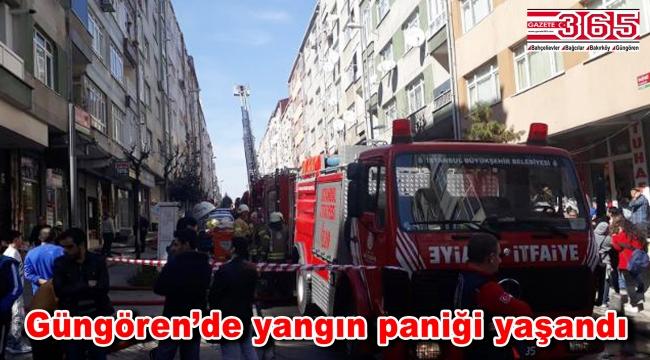 Güngören'de 6 katlı iki binanın çatısı alev alev yandı