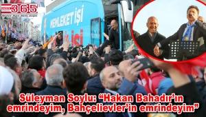 Süleyman Soylu Bahçelievler'de coşkulu kalabalığa seslendi