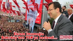 Ekrem İmamoğlu Bakırköy'de halkla buluştu