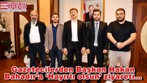 Bahçelievlerli gazeteciler Başkan Hakan Bahadır'ı ziyaret etti