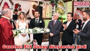Gazeteci Elif Günay evlendi