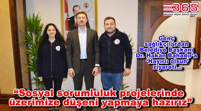 Özel Yaşam Sağlık Hizmetleri yöneticileri Başkan Hakan Bahadır'ı ziyaret etti