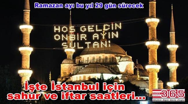 Ramazan İmsakiyesi 2019 yayınlandı! İşte İstanbul için sahur ve iftar saatleri…