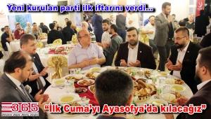 Yeniden Refah Partisi Bahçelievler Teşkilatı iftar programı düzenledi