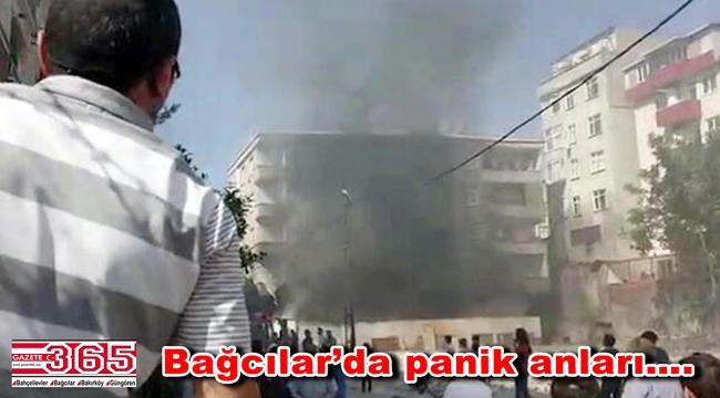 Bağcılar'da yangın: Mahalle sakinleri sokağa döküldü
