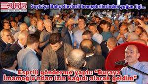 Bakan Süleyman Soylu Bahçelievler'de hemşehrileriyle buluştu