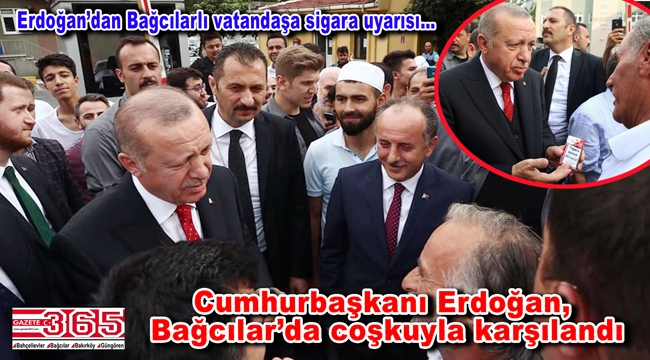 Cumhurbaşkanı Erdoğan Bağcılar Belediyesi'ni ziyaret etti