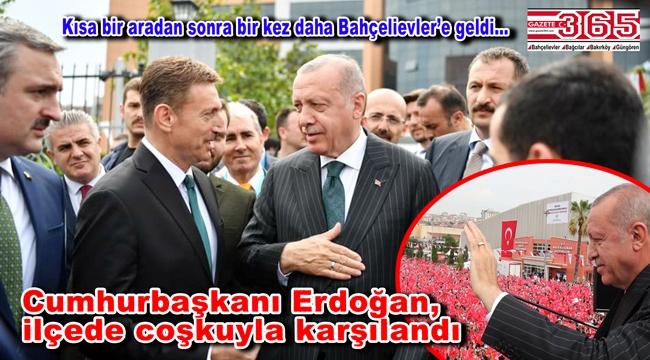 Cumhurbaşkanı Erdoğan, Bahçelievler'de toplu açılış törenine katıldı