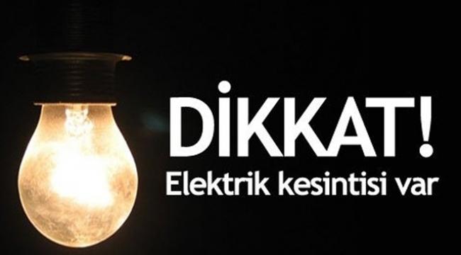 DİKKAT! Bahçelievler ve Bağcılar'da elektrik kesintisi…