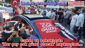 Ekrem İmamoğlu taraftarları zafer kutlaması için sokaklara döküldü