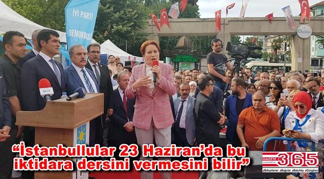 Meral Akşener Bakırköy'de Ekrem İmamoğlu'na destek istedi…