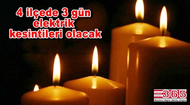 Bahçelievler, Bağcılar, Bakırköy ve Güngören'de elektrik kesintileri yaşanacak