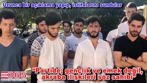 CHP Bahçelievler Gençliği'nde toplu istifa…