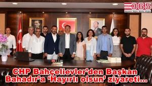 CHP Bahçelievler İlçe Örgütü, Belediye Başkanı Hakan Bahadır'ı ziyaret etti