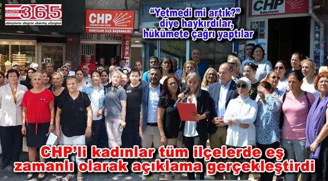 CHP'li kadınlardan 'Emine Bulut Cinayeti'ne eş zamanlı tepki…
