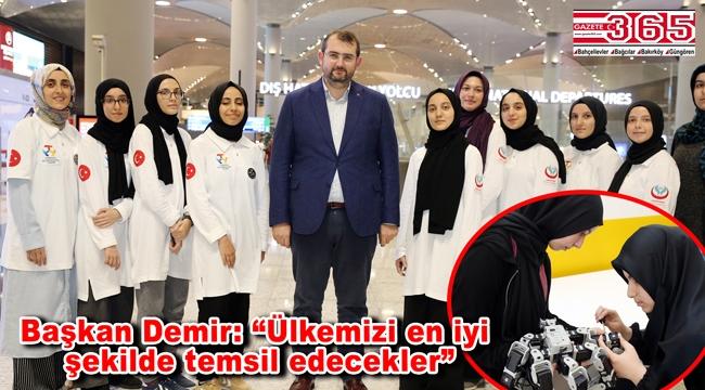 Türkiye'nin gururu Güngörenli öğrenciler Güney Kore'ye uğurlandı