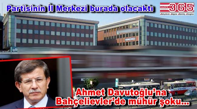 Ahmet Davutoğlu'nun yeni partisinin İl Merkezi binası mühürlendi