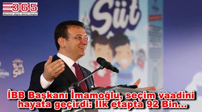 Ekrem İmamoğlu, 'İstanbul Halk Süt' dağıtımı uygulamasını başlattı