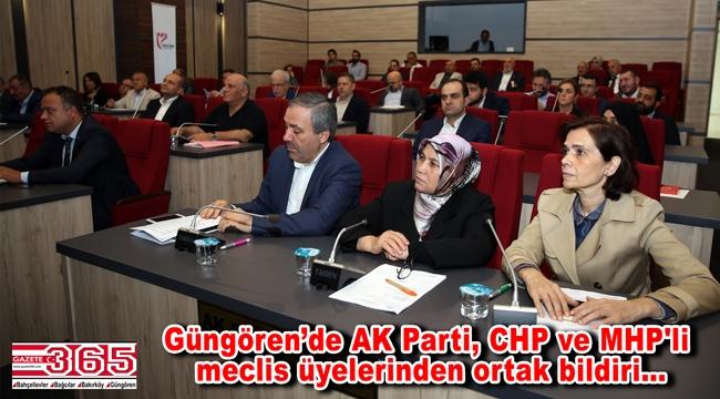 Güngören Belediye Meclisi'nden Barış Pınarı Harekatı'na ortak destek çıktı
