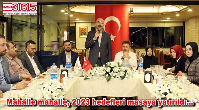 AK Parti Bahçelievler Teşkilatı, 'Kaynaşma ve İstişare' yemeklerinde buluştu