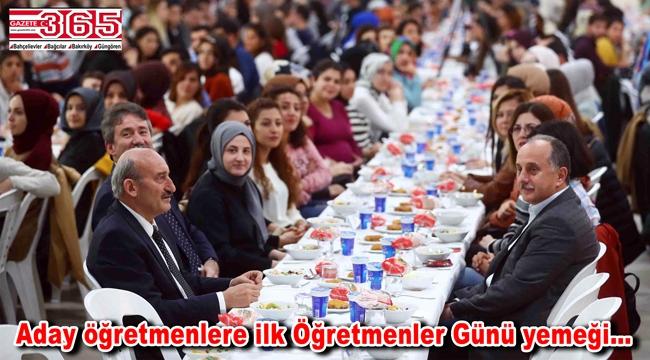Bağcılar Belediyesi, aday öğretmenler onuruna yemek verdi
